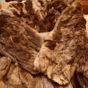 Luscious Genuine Rabbit Fur. Large. Brown.